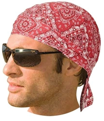 Image HW2614 Headwrap Paisley Red