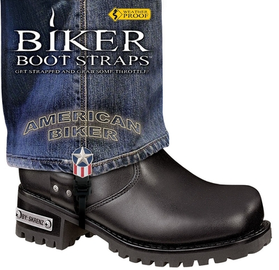 Image BBS/AB6 Weather Proof- Boot Straps- American Biker- 6 Inch