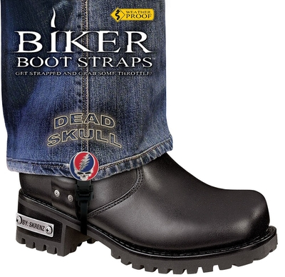 Image BBS/DS6 Weather Proof- Boot Straps- Dead Skull- 6 Inch