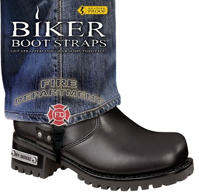 BBS/FD6 Weather Proof- Boot Straps- Fire Department- 6 Inch