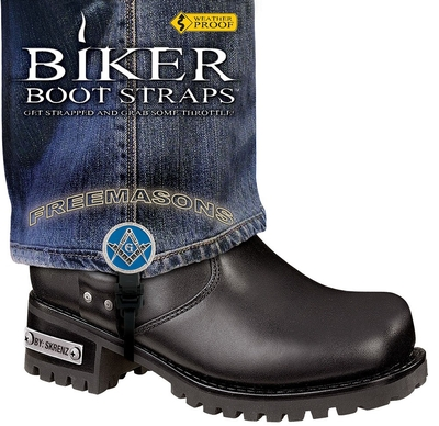 Image BBS/FM6 Weather Proof- Boot Straps- Freemasons- 6 Inch