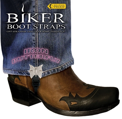 Image BBS/IB4 Weather Proof- Boot Straps- Iron Butterfly- 4 Inch