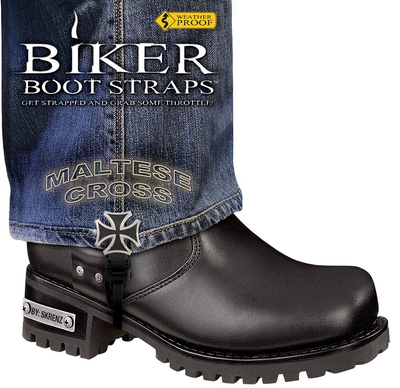 Image BBS/MC6 Weather Proof- Boot Straps- Maltese Cross- 6 Inch