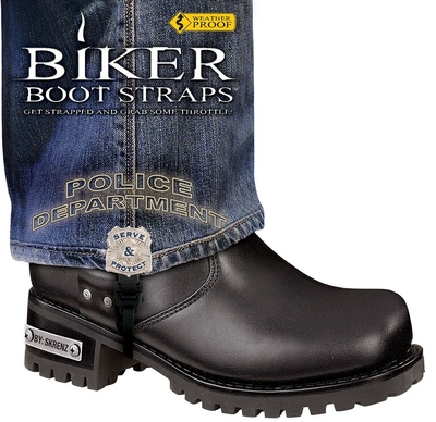 BBS/PD6 Weather Proof- Boot Straps- Police Department- 6 Inch