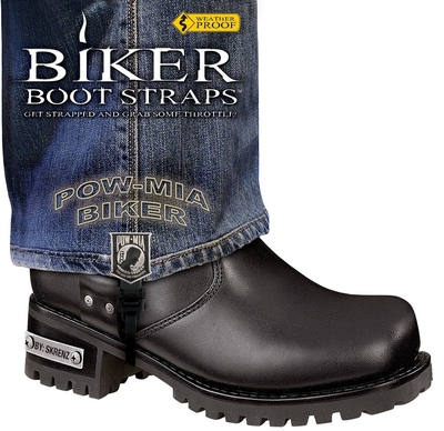 Image BBS/PW6 Weather Proof- Boot Straps- POW MIA- 6 Inch