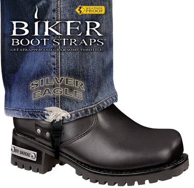 Image BBS/SE6 Weather Proof- Boot Straps- Silver Eagle- 6 Inch