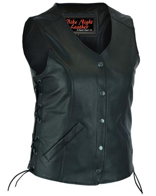 DS206 Women's Stylish Longer Body ¾ Vest – Side Laces