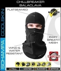 Image BLCLV015D-0 Chill Breaker Balaclava- Stitching Color- Black