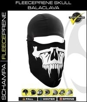 Image BLCLV100 Fleeceprene Skull Balaclava