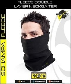 Image NG001- Double Layer Fleece NeckGaiter- Black