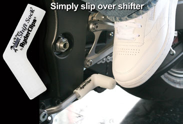 Image RSS-WHITE Rubber Shift Sock- White