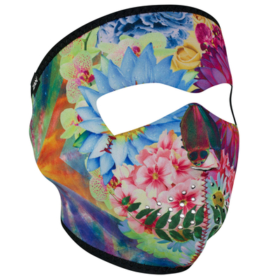 Image WNFM182 ZAN® Full Mask- Neoprene- Flower Skull