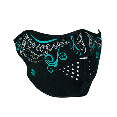 Image WNFM092HG ZAN® Half Mask- Neoprene- Venetian- Glow in the Dark
