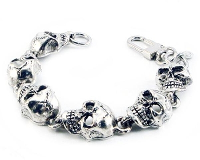 Image BC28XL Monster Skull Chain Bracelet