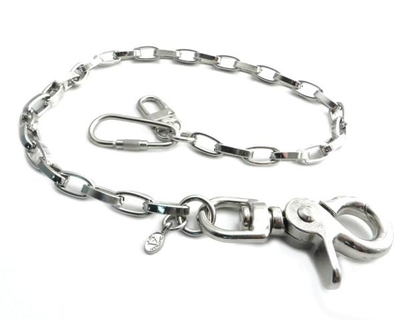 Image NC130-18 Modern Chrome Wallet Chain 16