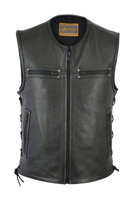 Image DS146 Men's Zipper Front Single Back Panel Concealed Carry Vest