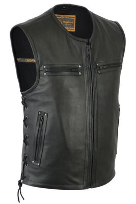 DS146 Men's Zipper Front Single Back Panel Concealed Carry Vest