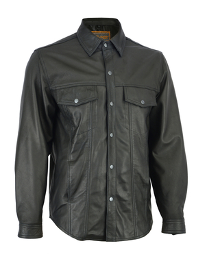 Image DS770 Men's Premium Lightweight Leather Shirt
